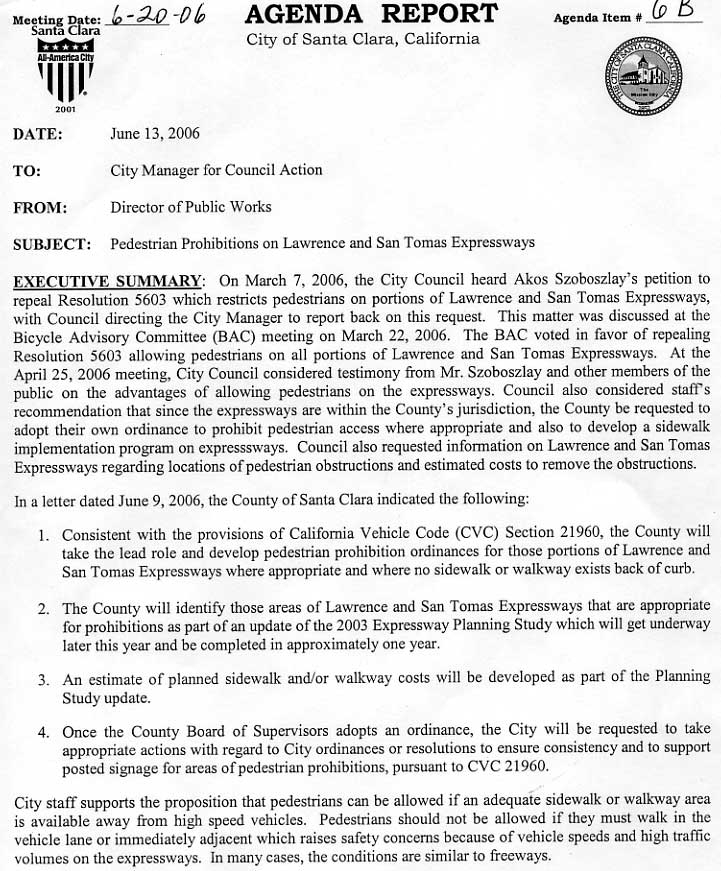 ... A Letter For City Council From Murdter (County Highway Staff) Opposing  And Contradicting BOS Policy) Was In The Agenda Packet: Commented 2.3 MB  Pdf File ...